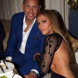 Alex Rodriguez y Jennifer Lopez en la fiesta de cumpleaños de la cantante