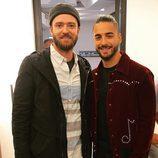 Maluma conoce por fin a Justin Timberlake