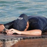 Froilán, derrengado al intentar salir del agua en Mallorca