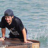 Froilán intentado salir del agua en Mallorca