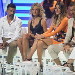José Luis Losa, Alba Carrillo, Laura Matamoros e Iván González en el debate final de 'Supervivientes 2017'