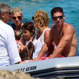 Carla Pereyra y Diego Simeone en sus vacaciones en Formentera