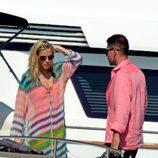 Carla Pereyra y Diego Simeone en Formentera