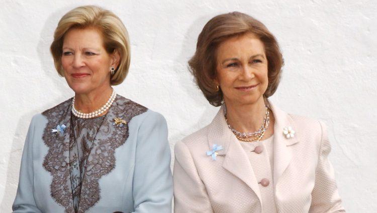 Ana María de Grecia y la Reina Sofía con Miguel Urdangarin en el bautizo de Carlos Morales de Grecia