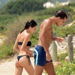 Tini Stoessel y Pepe Barroso saliendo de las aguas de Formentera