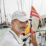 El Rey Felipe VI participando en la segunda jornada de regatas en Palma