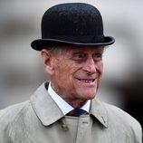 El Duque de Edimburgo en su último acto en el Palacio de Buckingham
