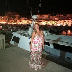 Belén Esteban de vacaciones en Menorca