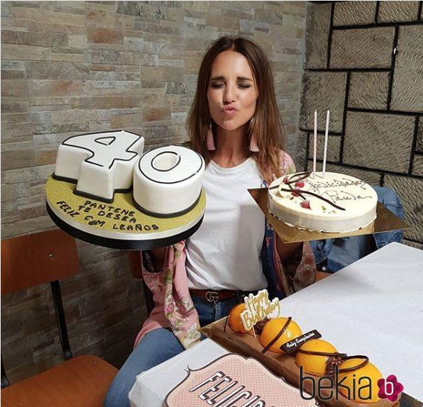 Paula Echevarría celebrando su 40 cumpleaños