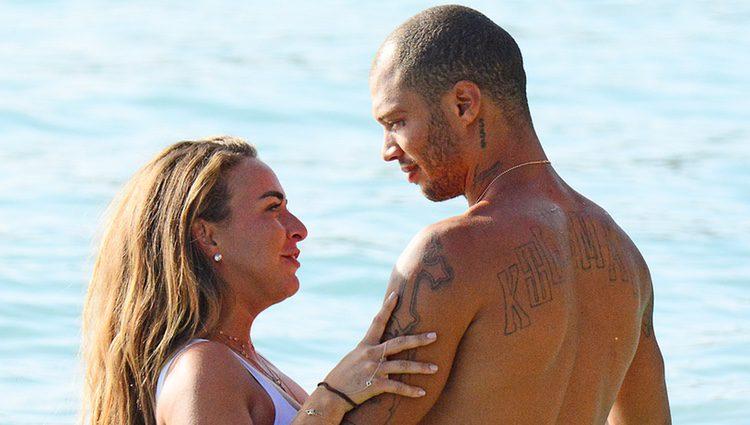 Chloe Green y Jeremy Meeks en Barbados