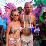 Chloe Green y Jeremy Meeks en el carnaval de Barbados 2017