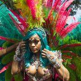 Rihanna elige un outfit muy llamativo para el Carnaval de Barbados 2017