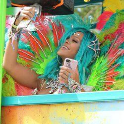 Rihanna en la carroza del Carnaval de Barbados 2017