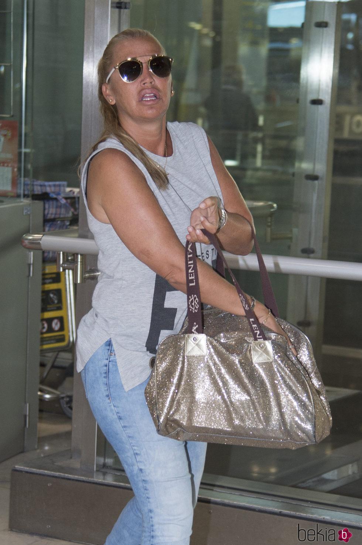 Belén Esteban a su regreso de las vacaciones en Menorca