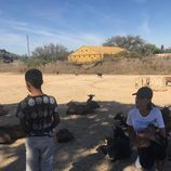Georgina Rodríguez disfrutando del Safari Madrid con Cristiano Ronaldo Junior