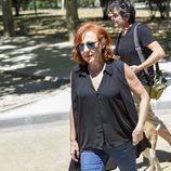 Carmen Machi en el tanatorio de Terele Pávez en Madrid