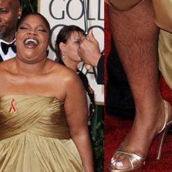 Mo'Nique sin depilar en los Globos de Oro 2010