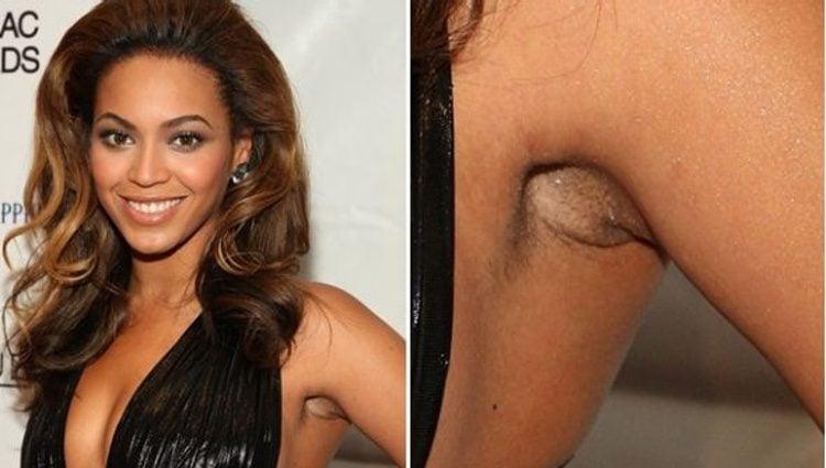 Beyoncé con pelos en las axilas