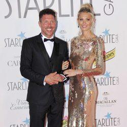 Diego Pablo Simeone y Carla Pereyra en la Gala Starlite 2017 en Marbella