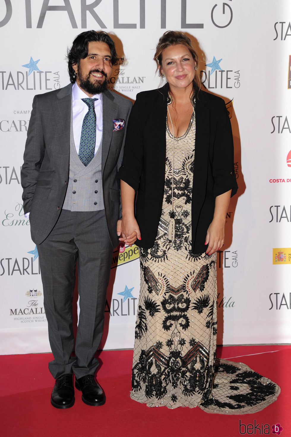 Niña Pastori y Julio Jiménez en la Gala Starlite 2017 en Marbella