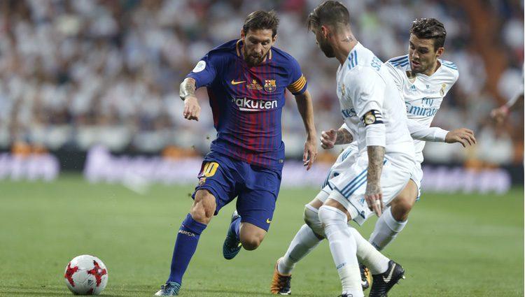 Leo Messi y Sergio Ramos en la Supercopa de España 2017