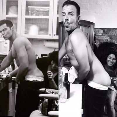 Ángel Llàcer imitando a Ricky Martin