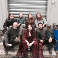 Algunos personajes de 'Juego de Tronos' en el rodaje