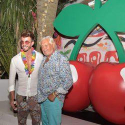 Marco Ferri y Marc Ostarcevic en la fiesta 'Flower Power Pacha Ibiza' 2017