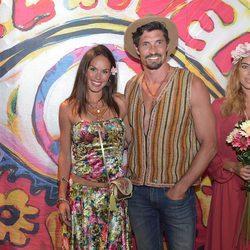 Mireia Canalda y Felipe López en la fiesta 'Flower Power Pacha Ibiza' 2017