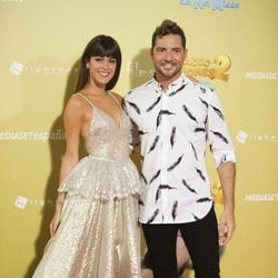 Tini Stoessel y David Bisbal en el estreno de 'Tadeo Jones 2'