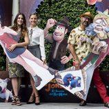 Adriana Ugarte, Michelle Jenner y José Corbacho en la presentación de 'tadeo Jones 2'