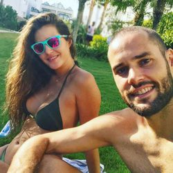 Malena Costa y Mario Suárez disfrutando de las últimas tardes de verano