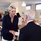 Charlene de Mónaco visita la Fundación Hector Otto