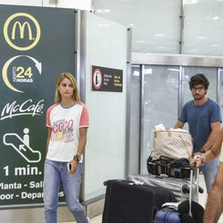 Alba Carrillo y David Vallespín vuelven a España tras sus vacaciones en Maldivas