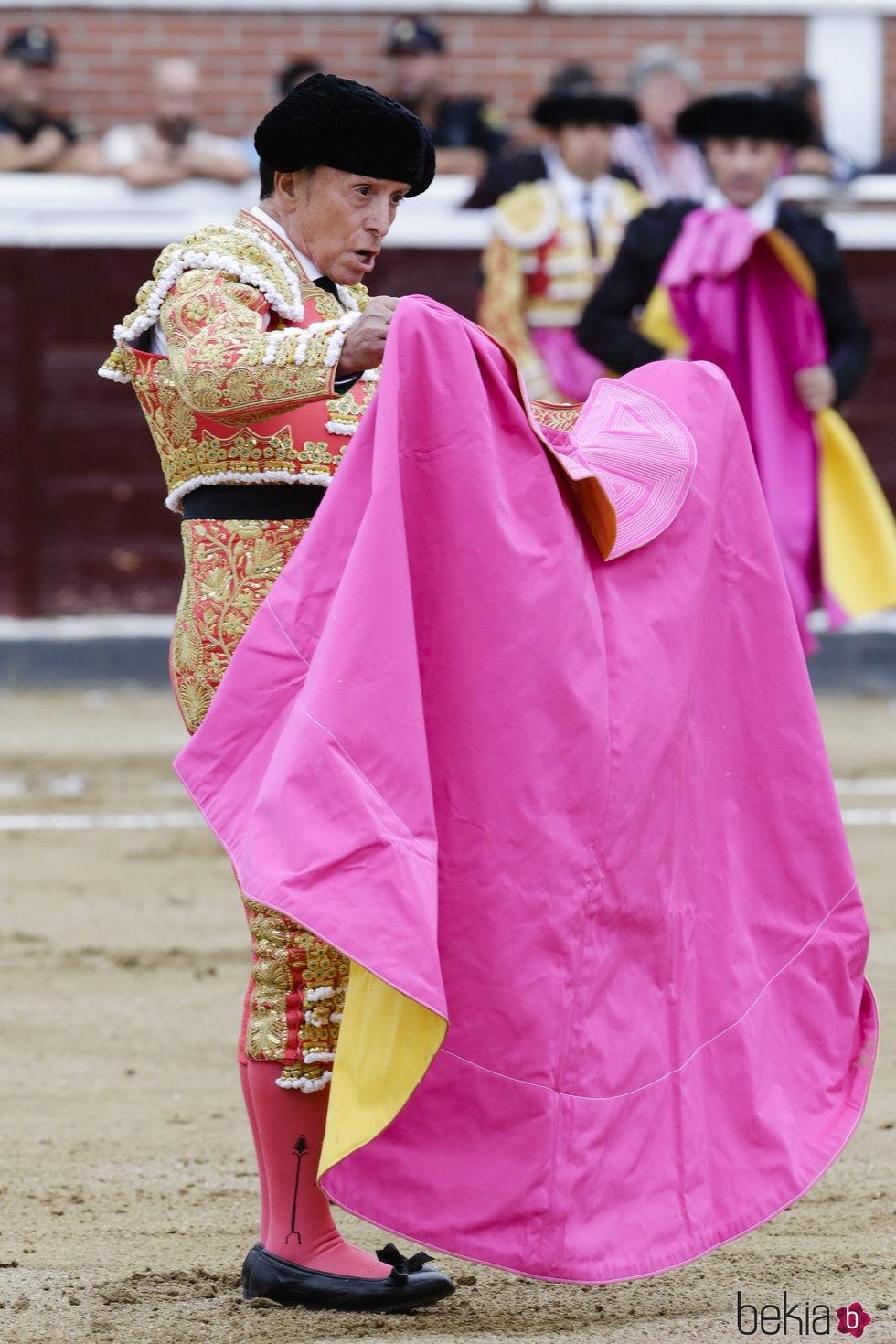 José Ortega Cano en su última corrida de toros antes de cortarse la coleta