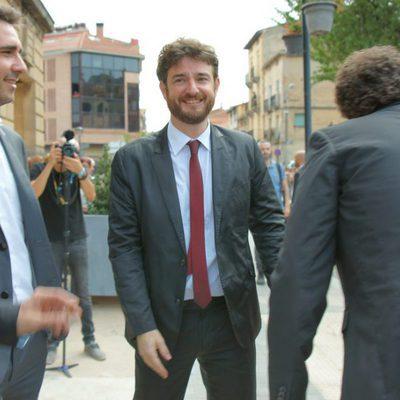 Gorka Otxoa en la boda de Alberto Garzón en Ceniceros, La Rioja
