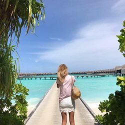 Alba Carrillo durante sus vacaciones con David Vallespín en Maldivas