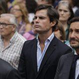Curi Gallardo en el funeral de Dámaso González