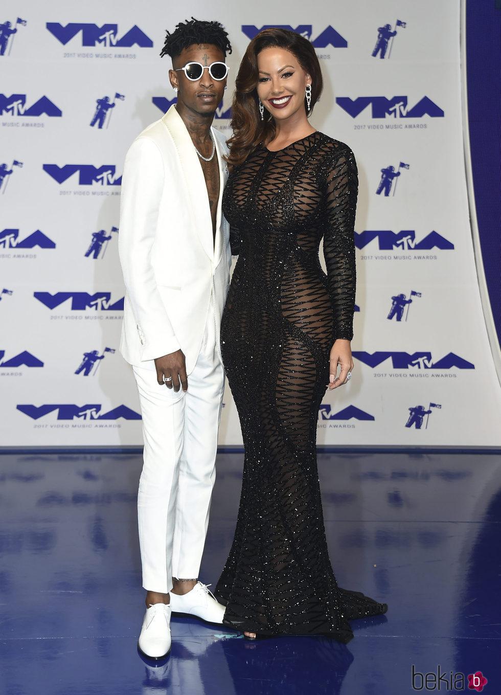 21 Savage y Amber Rose en los MTV VMA 2017