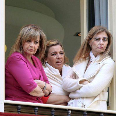 María Teresa Campos, Carmen Borrego y Araceli Campos