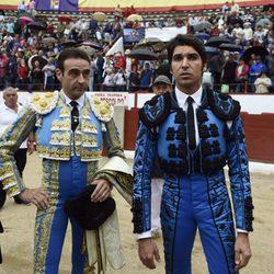 Cayetano Rivera y Enrique Ponce en la plaza de toros de Colmenar Viejo