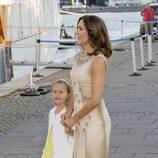 Mary y Josefina de Dinamarca en el 18 cumpleaños de Nicolás de Dinamarca