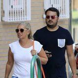 Belén Esteban dando un paseo por Madrid con Miguel