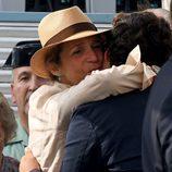 La Infanta Elena abraza a Froilán en la Final Copa de Oro del Torneo Internacional de Polo de Sotogrande