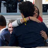 Victoria de Marichalar abraza a Froilán en la Final Copa de Oro del Torneo Internacional de Polo de Sotogrande