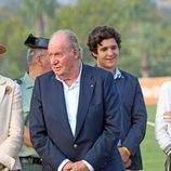 El Rey Juan Carlos, la Infanta Elena, Froilán y Victoria de Marichalar en la Final Copa de Oro del Torneo Internacional de Polo de Sotogrande