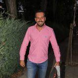 Kike Calleja llegando a la casa de Carmen Borrego para el cumpleaños de Terelu Campos