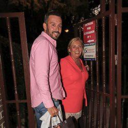 Kike Calleja y Carmen Borrego en el cumpleaños de Terelu Campos