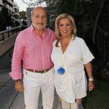 Carmen Borrego y su marido en la celebración del 52 cumpleaños de Terelu Campos