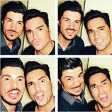 David Bustamante y su hermano Manuel en un divertido montaje